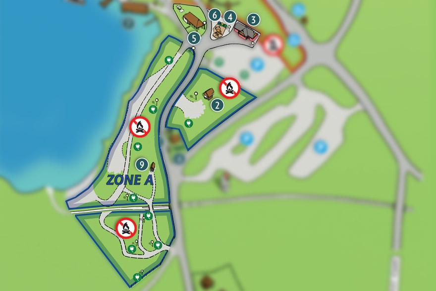 Camp Bohinj Map Zone A