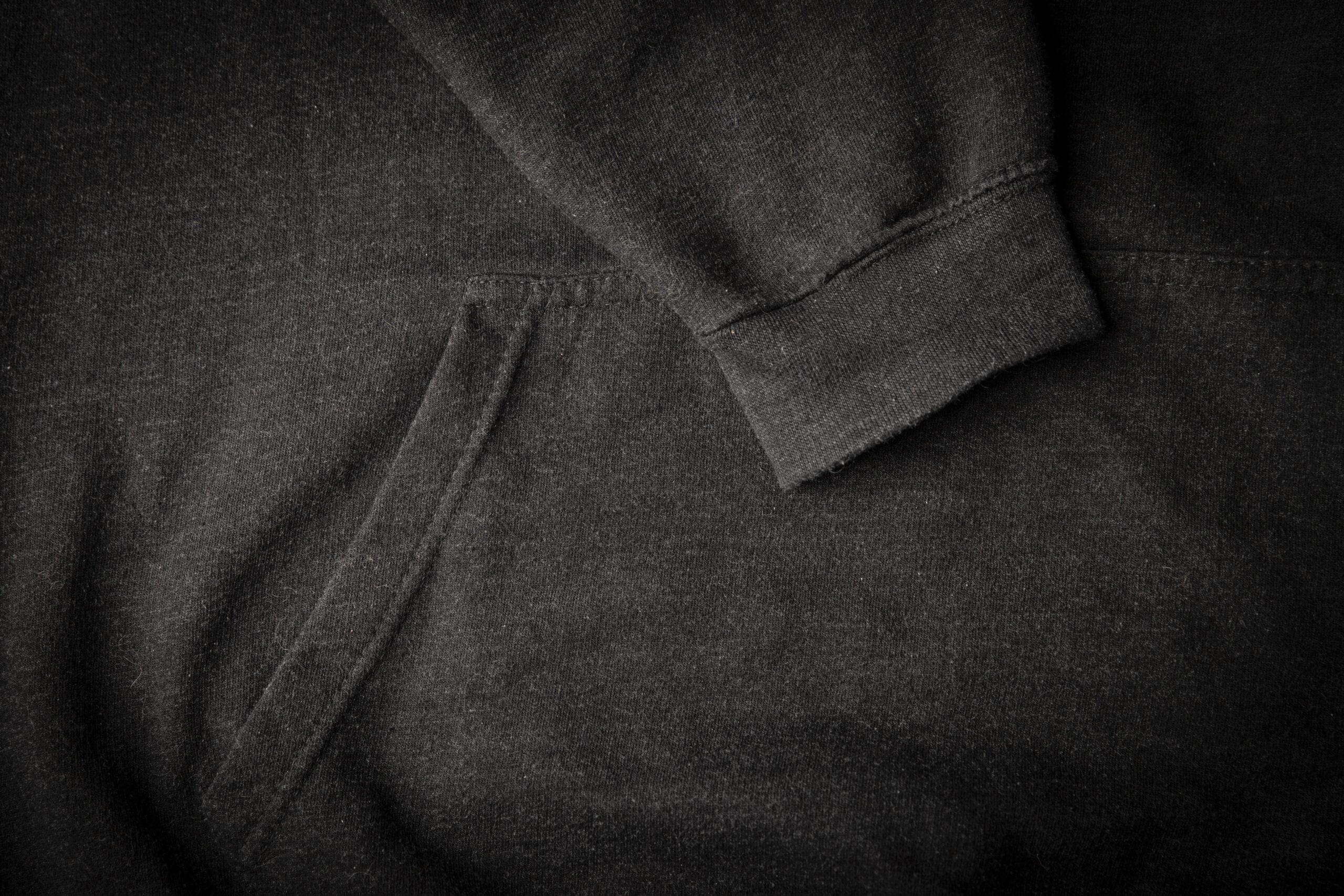 Black Hoodie Detail 2