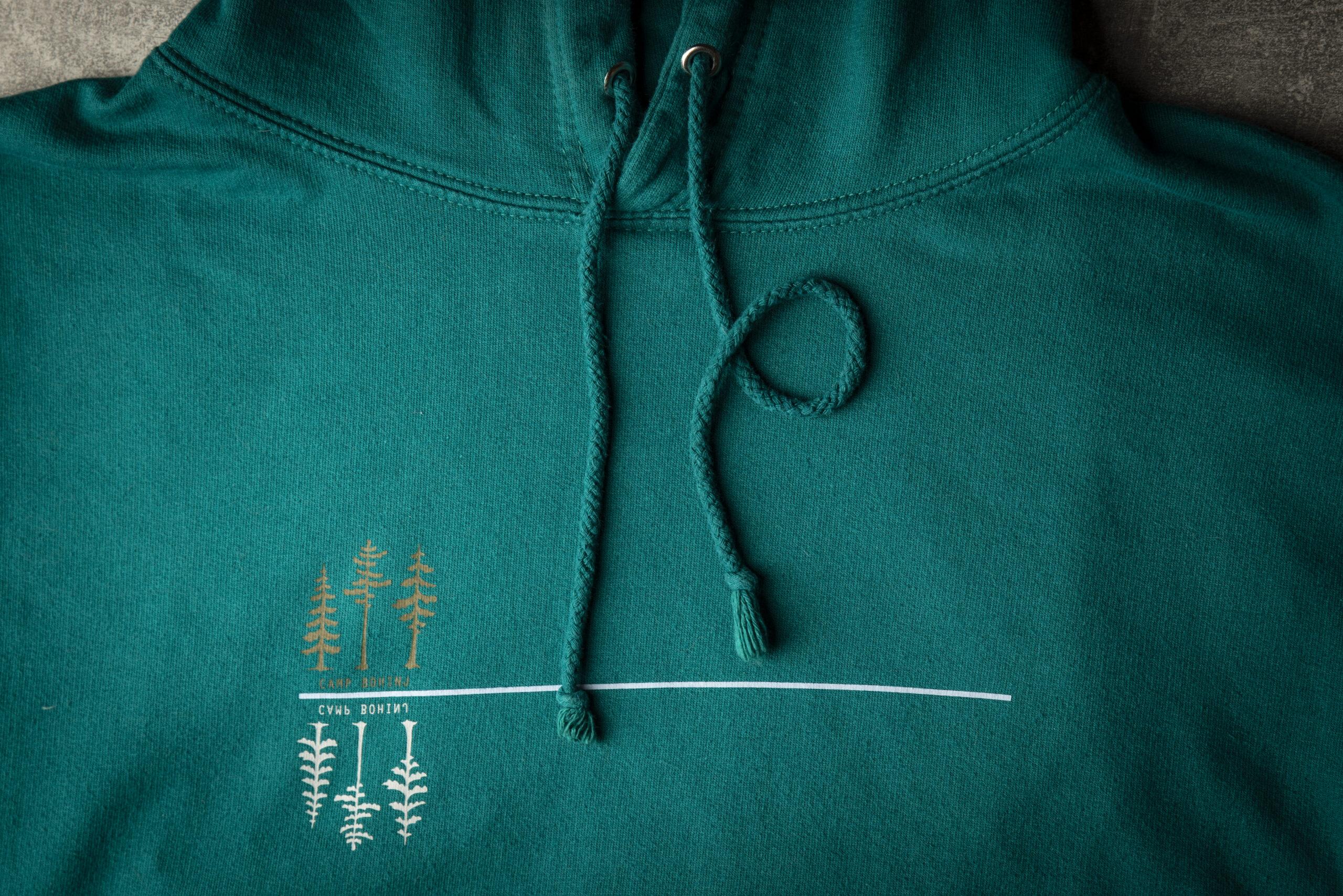 Green Hoodie Detail 1
