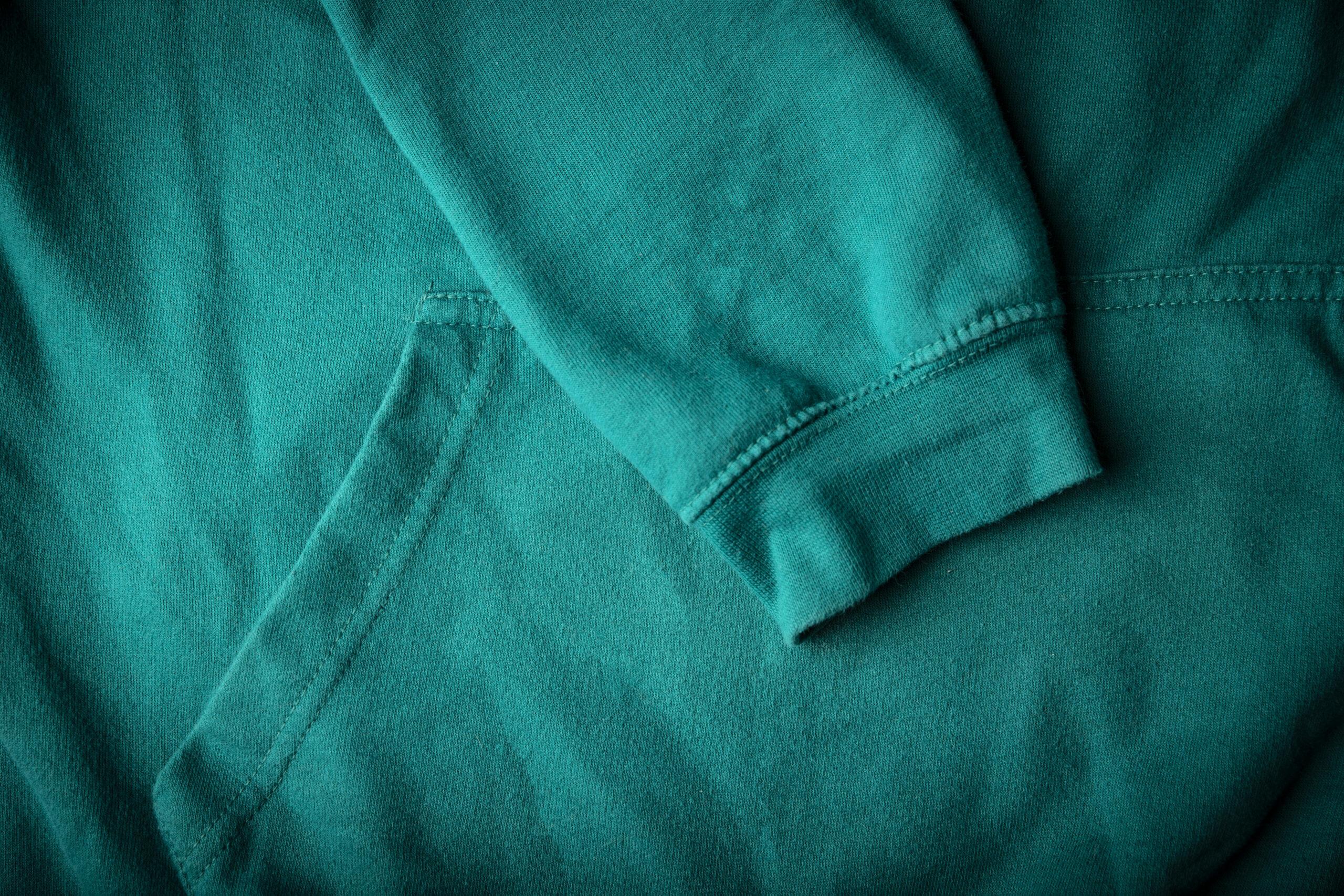 Green Hoodie Detail 2