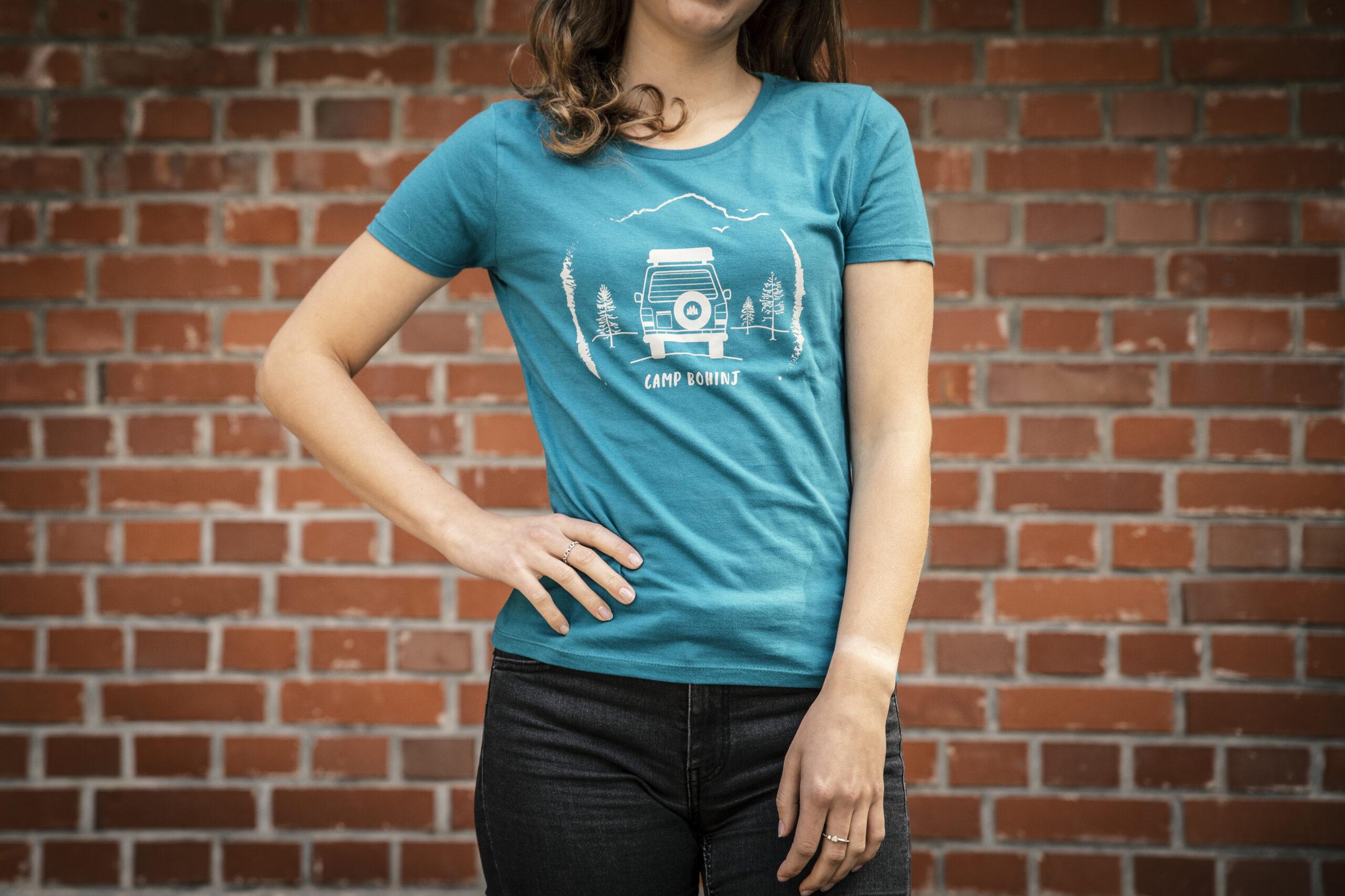 Camper Women T Shirt Petrol 1