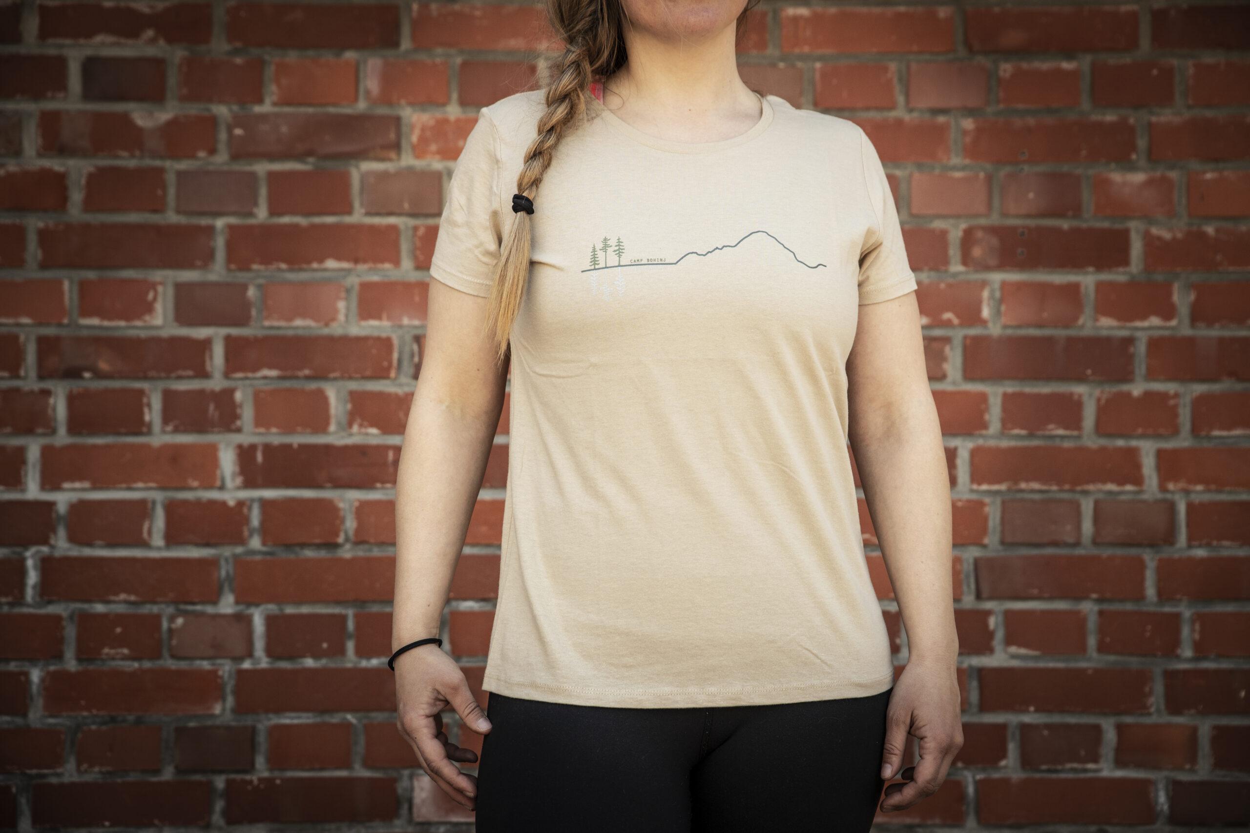 Mountain Woman T Shirt Beige 3