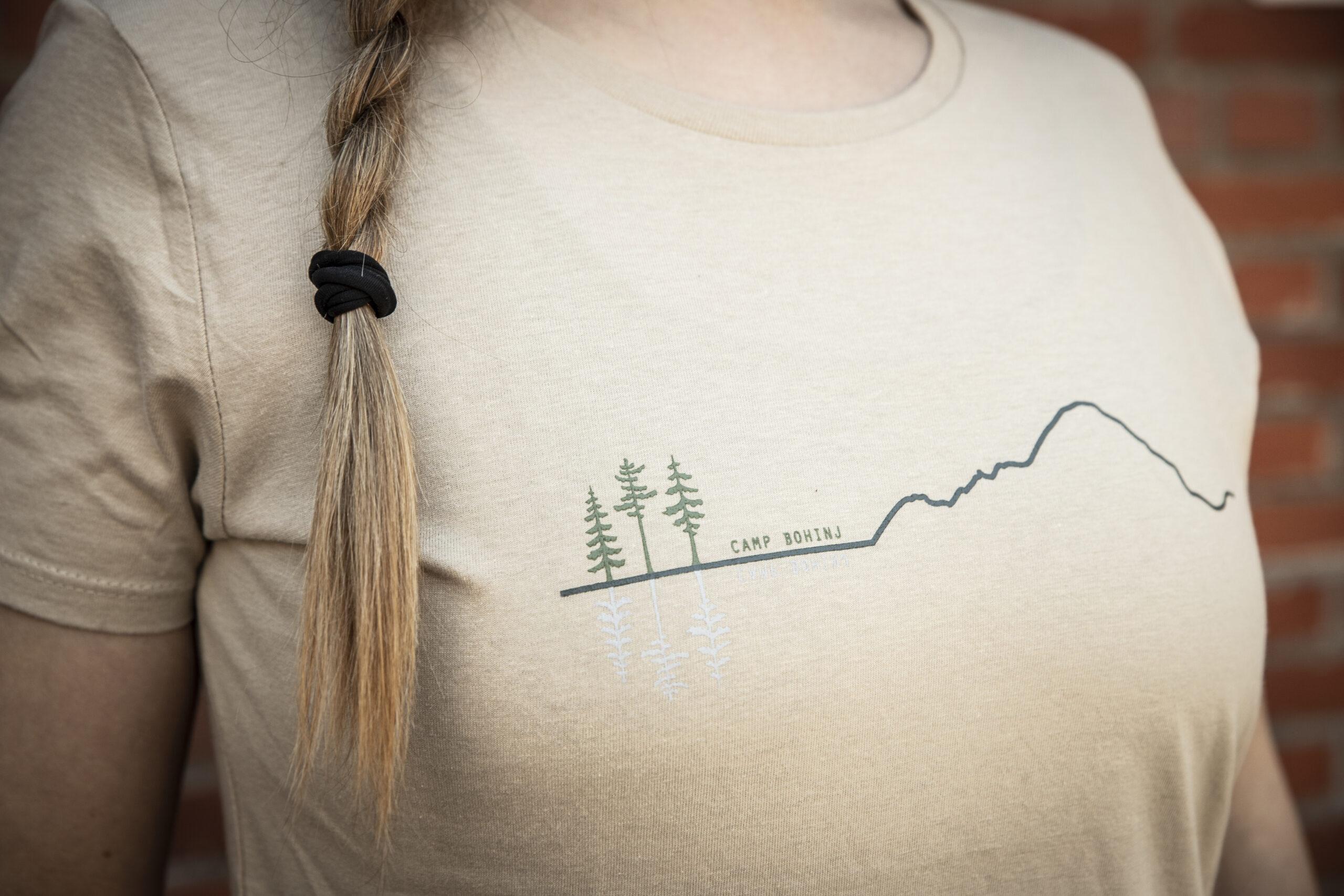 Mountain Woman T Shirt Beige 4