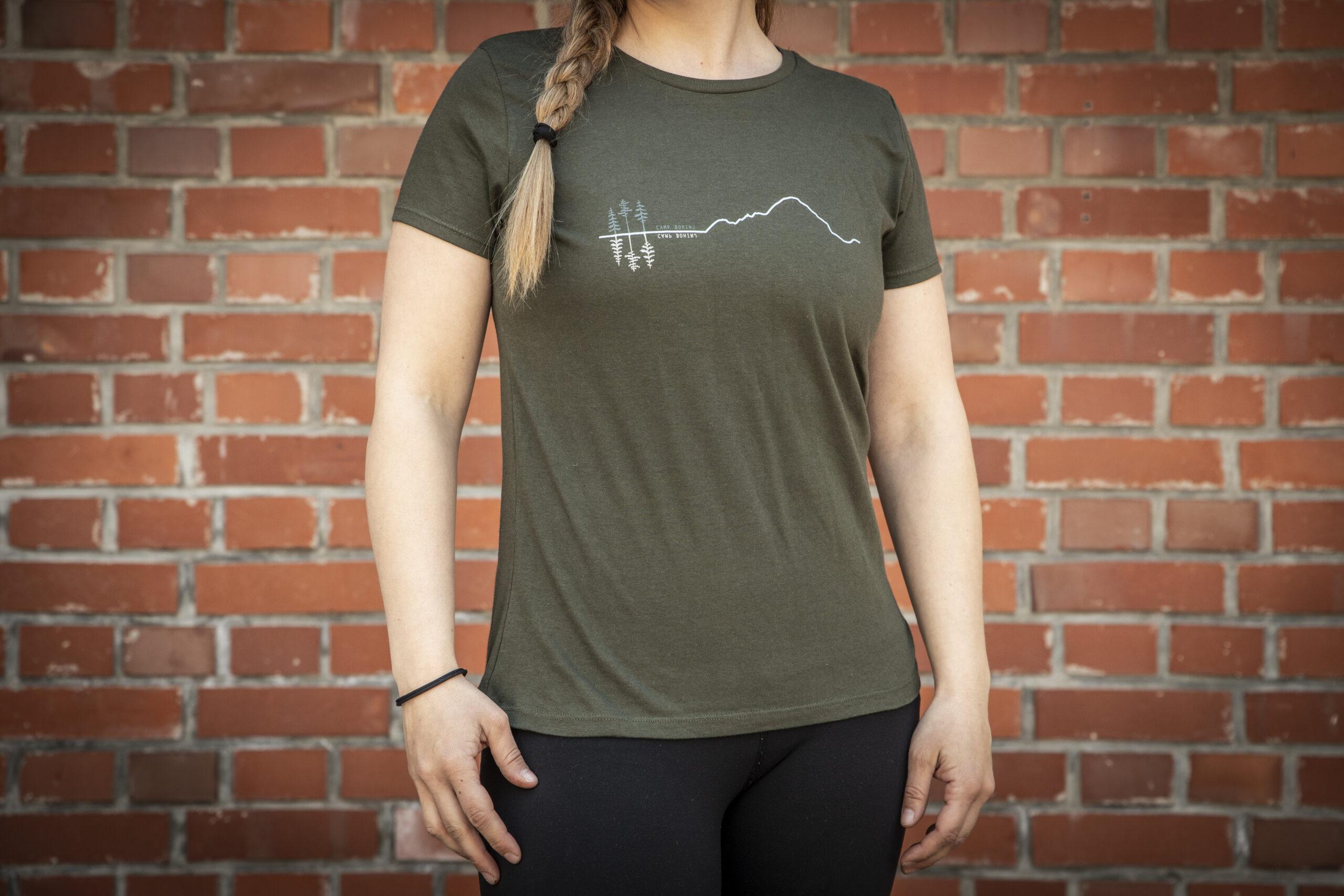 Mountain Woman T Shirt Green 3