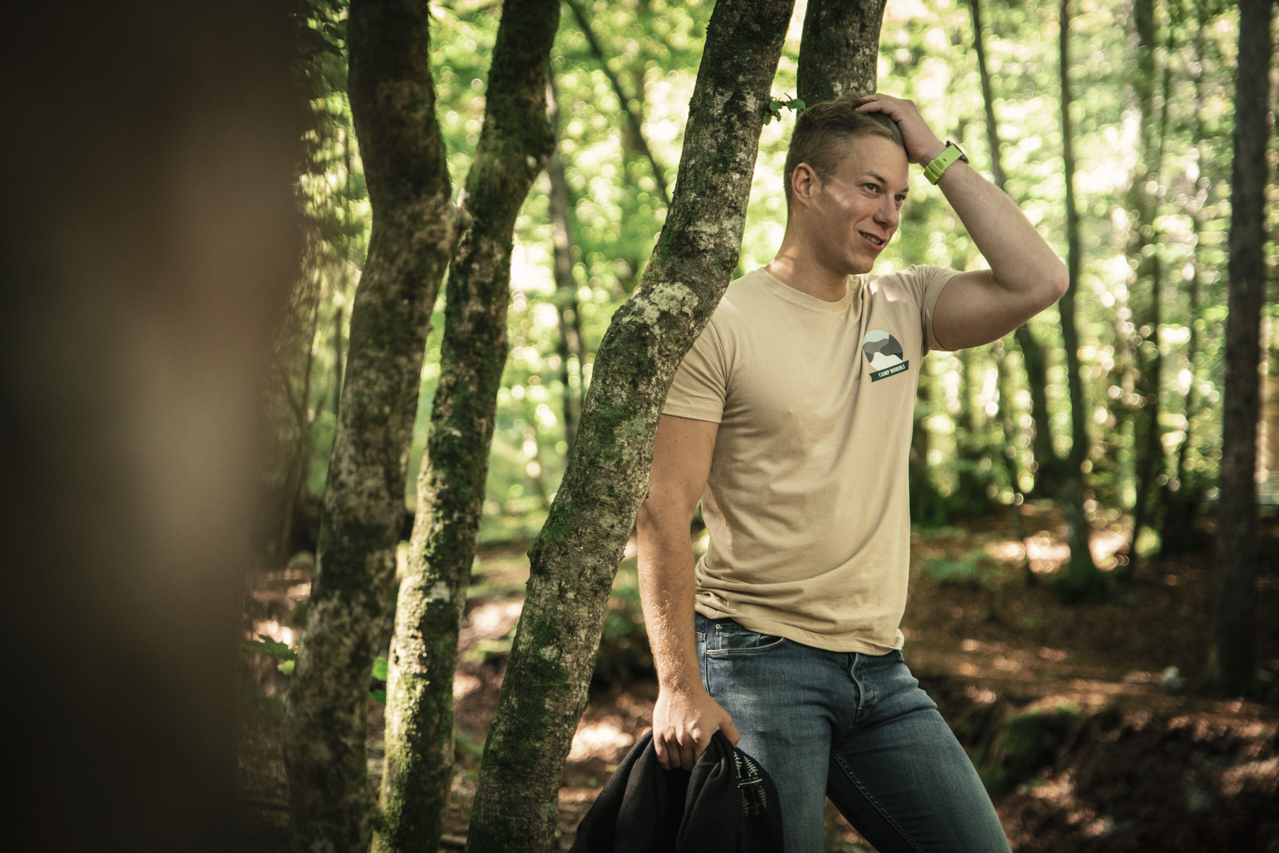 Nature Men T Shirt Beige 1
