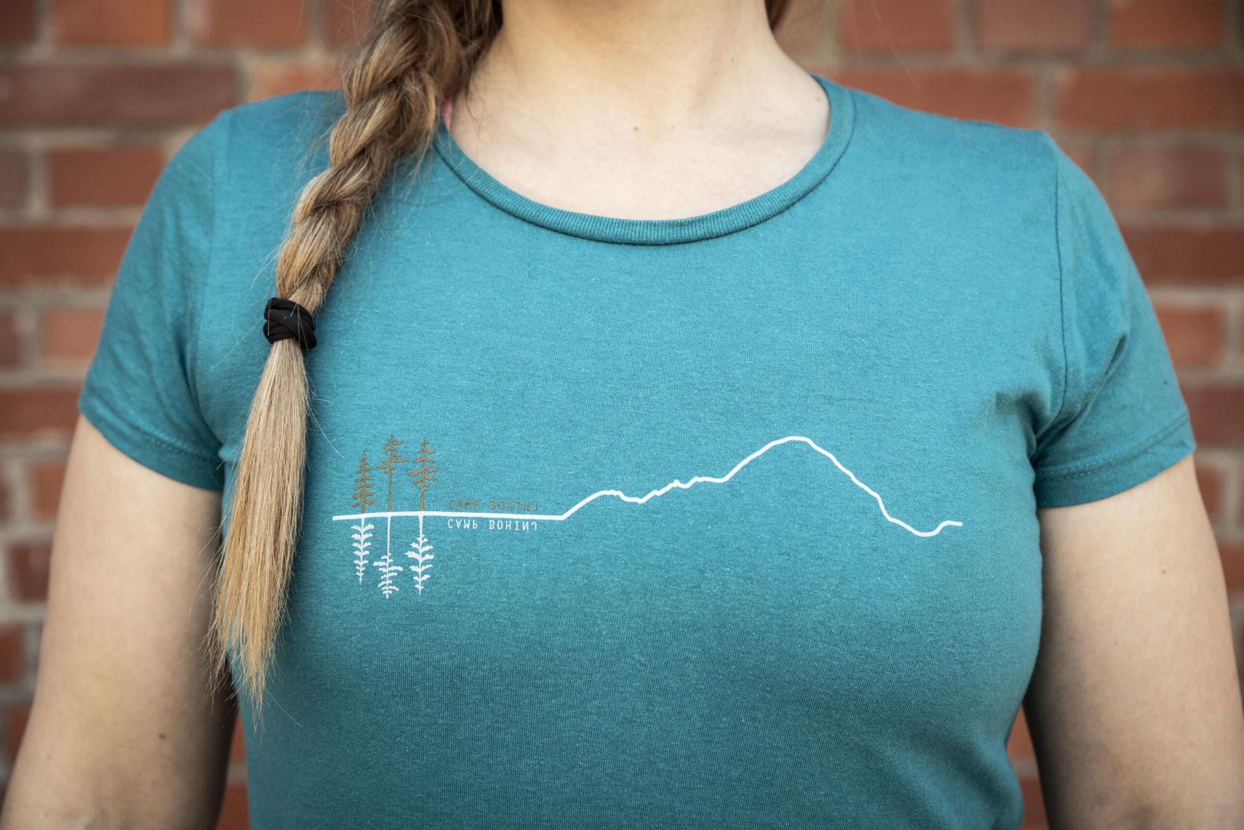 Mountain Woman T Shirt Petrol 4