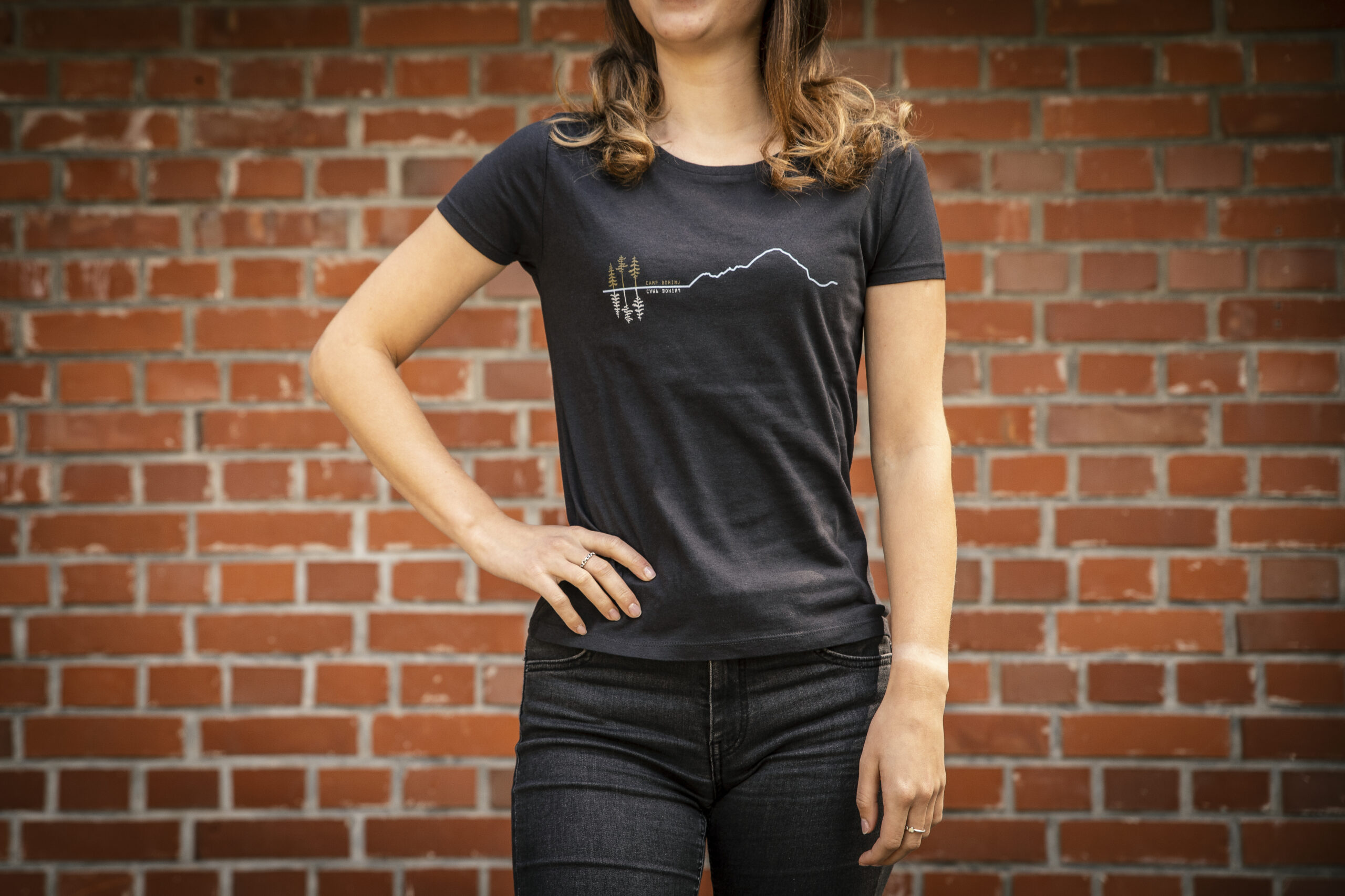 Mountain Women T Shirt Black