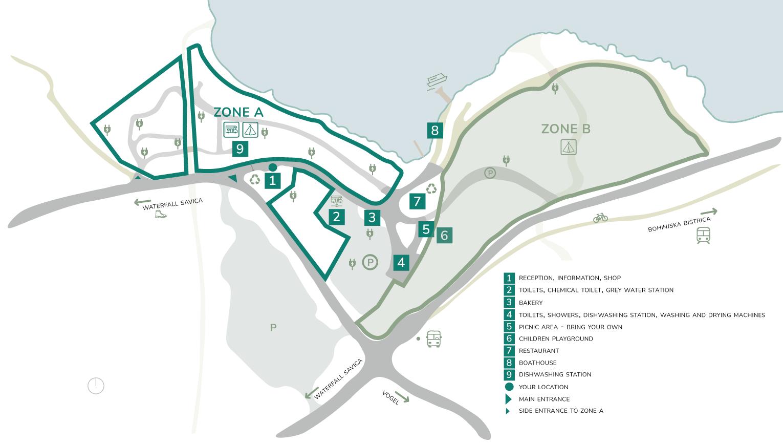 Zemljevid Kampa Ang Zoneb