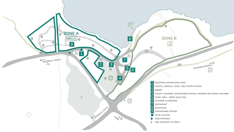 Zemljevid Kampa Ang